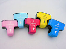 5PK HP02 #02 Ink Cartridge for HP Photosmart C8180 C6180 C7280 C8250 C7460 C7260