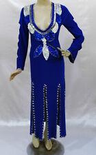 Egyptian Belly Dance Baladi Galabeya Performance Dress Costume Royal Blue