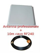 ANTENNA a pannello 17dBi WIFI 2.4GHz WIRELESS WI-FI + 10m cavo RF240 rp-sma plug