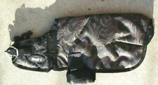 "Xxs 8"" - 10"" Black Tooled leather print Waterproof Dog Blanket Tough 1"