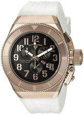 Swiss Legend Men's Rose Gold Steel Case White Strap Quartz Watch 13844-RG-01-WHT