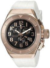 Reloj de Cuarzo Swiss Legend Para Hombre Rosa Oro Acero caso Blanco Correa 13844-RG-01-blanco