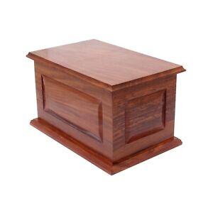 Extra Large Wood Casket Cremation Urn Adult Urn For Ashes Wooden Memorial Urn
