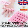20/40/200 PCS Soft Finger Separators Sponge Foam Toe Pedicure Manicure Nails Art