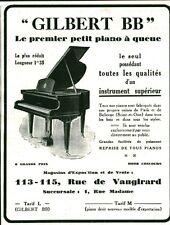Publicité ancienne piano à queue Gilbert BB 1929 issue de magazine