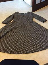 Boden Ladies Grey Spot Wool Shift Dress. SIZE 12l