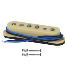 Yellow Alnico 5 Strat Guitar Single Coil Pickup Middile Pickup Staggered Poles