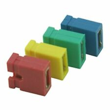 Jumper Link 2.54mm Connector Open Back Green (10 Pack)