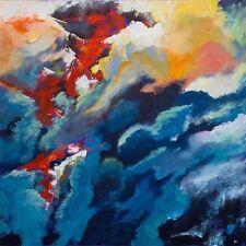 """Superbe original Bryony Harrison """"incendie de forêt II-écran de fumée"""" peinture abstraite"""