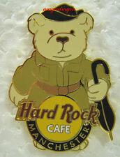 Hard Rock Cafe MANCHESTER Raincoat Bear Pin .