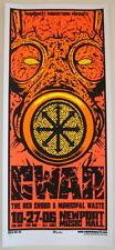 2006 Gwar w/ The Red Chord - Columbus Silkscreen Concert Poster Martin