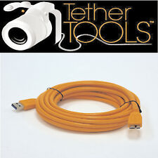 Tether tools CU5454 USB3 Macho a Cable Micro-B Superspeed Hi-Vis 15ft. Naranja.