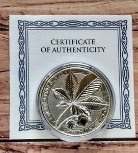 2021 Germania Mint Chestnut Leaf Mystical Forest 1oz Silver Bullion coin + coa