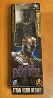 "MARVEL Black Panther Erik Killmonger 12"" Figure NEW Titan Hero Series Hasbro"