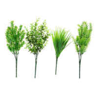 7 Branches Artificial Plastic Eucalyptus Plant Flower Office Party Wedding!w