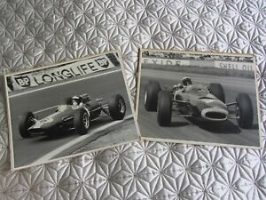 Very Rare signed Jim Clark and Jackie Stewart 1960s photos original Formula One
