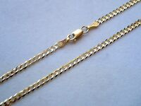 14K SOLID GOLD 2.0MM MEN WOMEN CUBAN LINK CHAIN SIZE 16' - 30' FREE SHIPPING