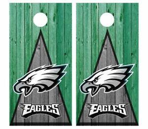 Philadelphia Eagles Football Cornhole Board Wraps Skins Vinyl Decals NFL Style 2