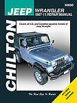 Chilton Jeep Wrangler 1987-11 Repair Manual 40650 Shop Service Garage Book