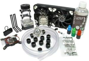 Liquid Cool Vortex One Advanced DIY 240mm Water Cooling Kit 120mm Fan Size