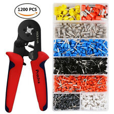 1200PCS Bootlace Ferrule Kit W/ Bootlace Ferrule Hand Crimper Crimping Tool