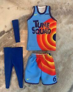 custom made 1/6 figure Lebron James LBJ Space Jam #6 blue jersey