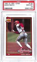 1991 O-Pee-Chee Baseball Card #130_Ozzie Smith_PSA GEM MINT 10_HOF_Cardinals