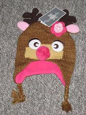 Koala Kids Reindeer Winter Hat Size 3-6 Months NWT