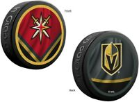 Vegas Golden Knights NHL Reverse Retro Dual Logo Souvenir Hockey Puck