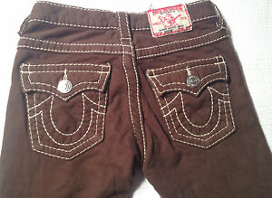 EUC - RRP $169 - Kids True Religion Brand Jeans 'JOEY BIG T' Thick Brown Pants