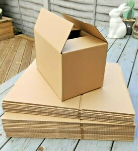 """BEST PRICE SALE!! Royal Mail Small Parcel Postal Mailing Cardboard Boxes 9x6x6"""""""
