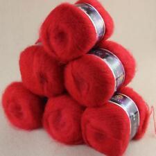 Soft 6BallsX50g Fluffy Mohair Angora Cashmere DIY Hand Knitting Worsted Yarn 12