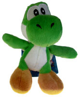"Nintendo Super Mario Brothers Bros 4"" Green Yoshi Soft Plush Doll with Hanger"