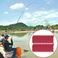 50x vermi ESCHE ARTIFICIALI verme esca richiamo silicone artificiale 3,5cm pesca