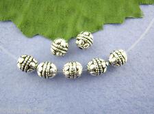 80 Perles intercalaires spacer Rond Motif Pour Bracelet Collier 5x5mm