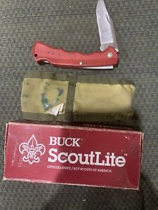 Older Boy Scout Official Buck Scoutlite Knife BSA In Box