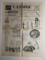 N326 La Une Du Journal Candide 28 décembre 1938 la revue Politique et financière