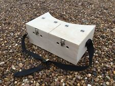 LARGE DOUBLE BOW BACK FERRET CARRY BOX 2 COMPARTMENT FERRETING RABBITING HUNTING