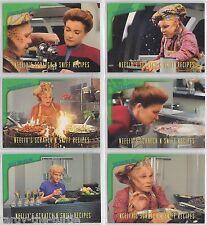 Star Trek Voyager Season 1 Series 2 Trading Card Subset Scratch-N-Sniff R1-6