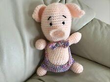 Pig Soft Toy ,little Piggy wants  a New Home, handmade ,new