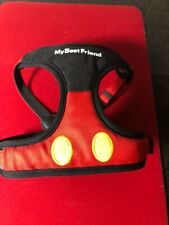 Tokyo Disney Japan Mickey Mouse Dog Harness Exclusive +Leash Size Ss New w/tags