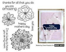 Hero Arts Clear Stamps - Flower, Flowers, Mother's Day, You are Amazing Love You