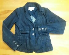 Anthropologie Pilcro and The Letterpress Dark Wash Jean Jacket WOMENS SMALL