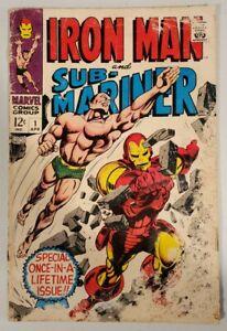 IRON MAN AND SUB-MARINER #1 (MARVEL 1968) *PRE-DATES IRON MAN #1 &...