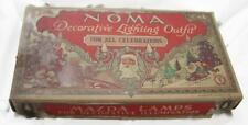 Vintage 1927 Noma Christmas Lights Set in Box No.110 Colored Mazda Lamps WORKING