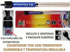 Calentador 75w sumergible termostato acuario Termocalentador pecera Tortuguera