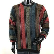 Vintage Tundra Mens Large Bill Cosby Multicolored Striped Crewneck Sweater