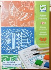 Djeco Workshops Rubber Engraving Kit Make Your Own Decorative Rubber Stamps