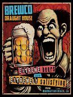 Extreme Beers -Poster métal 15x20cm decoration café bar pub restaurant brasserie