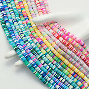 Multicolor Soft Ceramic Beads Polymer Clay Beads Spacer Beads For Jewelry Mak`